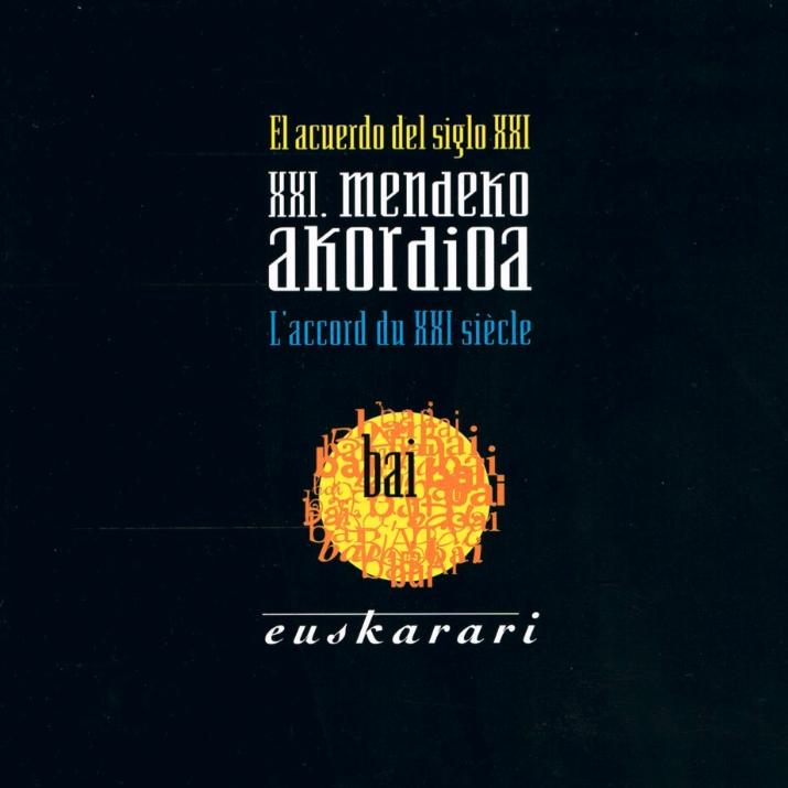 XXI. mendeko akordioa Bai Euskarari (1998)