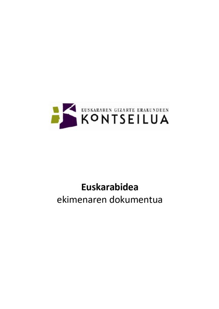 Euskarabidea ekimenaren dokumentua
