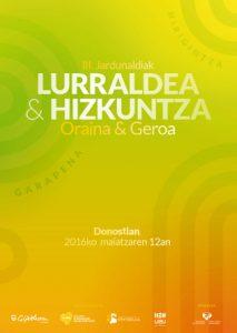 Lurraldea eta Hizkuntza. Oraina & Geroa. III. Jardunaldiak @ Carlos Santa Maria Zentroa (Donostia)