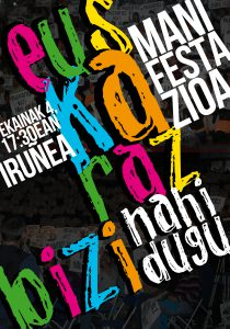 Bide eman euskarari, euskaraz bizi nahi dugu manifestazioa @ Iruñea